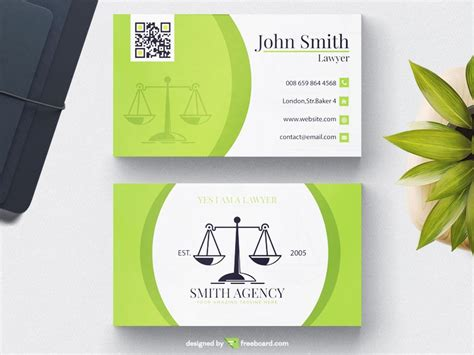 green lawyer business card freebcard