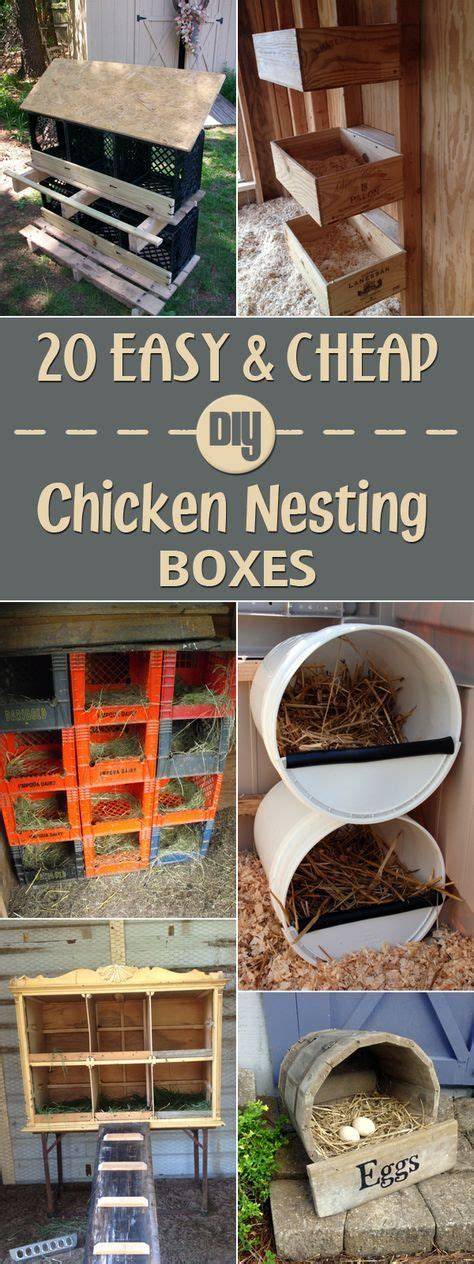 cheap nest of 20 easy cheap diy chicken nesting boxes chicken