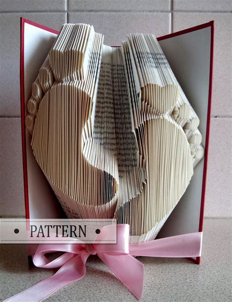 Book Folding Pattern With Free Tutorial Baby Footprint Heart Make Your Own Gift Handmade Book Folding Template Maker