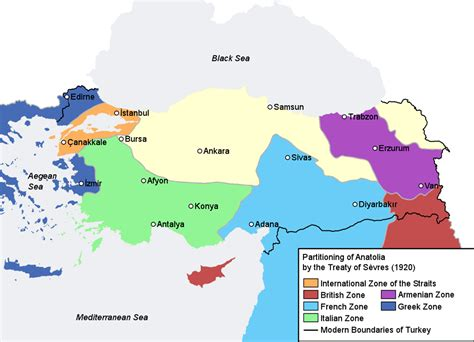 middle east ottoman empire proposed partitioning of the ottoman empire by european