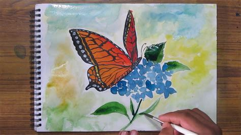 painting butterfly watercolor butterfly paintings www pixshark images
