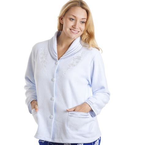 bed jacket light blue button up bed jacket