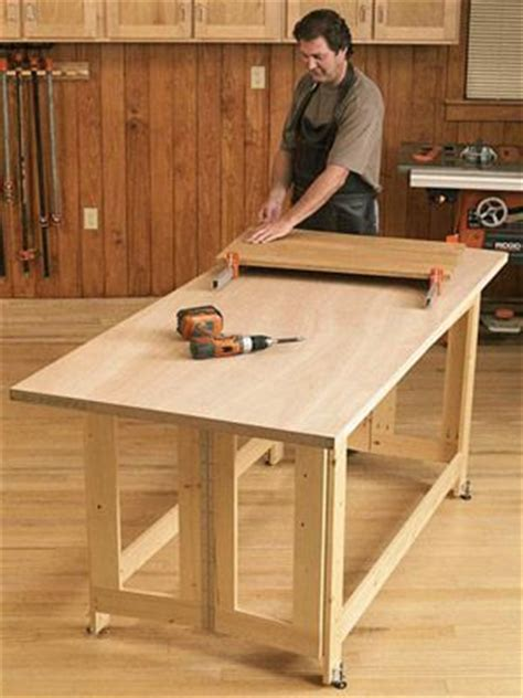 folding work table woodworking plan   base