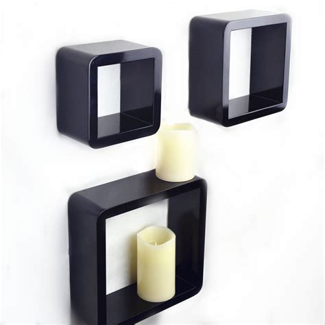 Corner Cube Shelf by Set Of 3 Pcs Of Cube Wall Shelves Mdf Shelf Corner