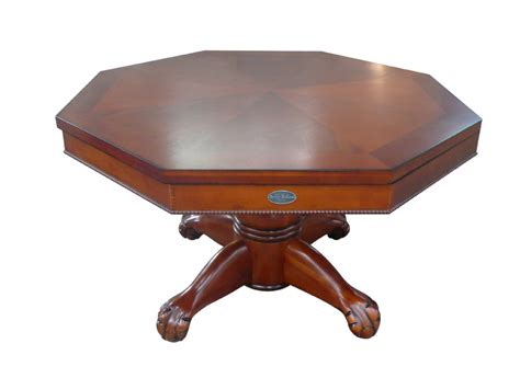 octagon 48 quot 3 in 1 slate bumper pool table antique walnut