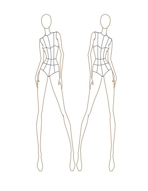 croquis female front view croquis pinterest