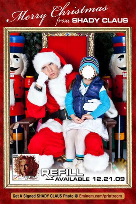 eminem xmas sit on shady claus lap and tell eminem if you ve been