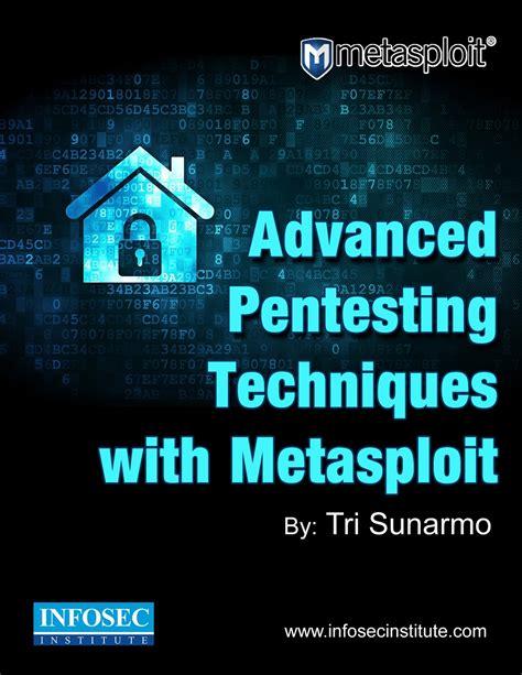 phishing attacks advanced attack techniques books advanced pentesting techniques with metasploit infosec