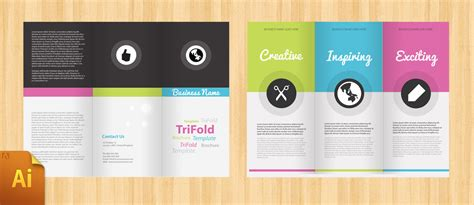 brochure ai template free corporate tri fold brochure template designbump