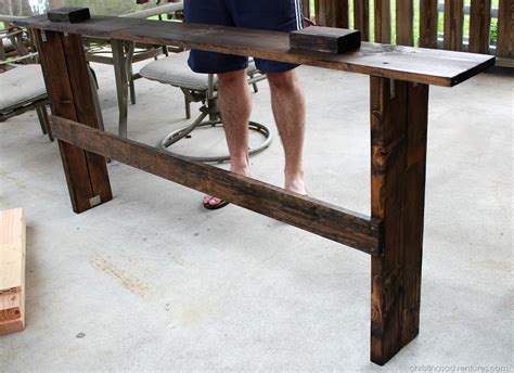 table sofa called easy diy sofa table tutorial christinas adventures