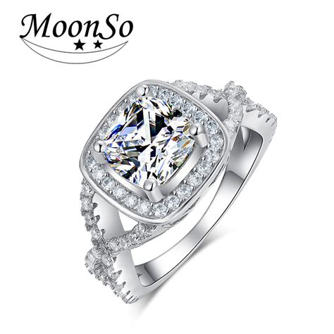 2016 trendy cz luxury real 925 sterling silver
