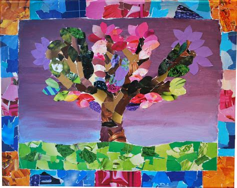 How To Make Paper Collage - kids corner one world one beating