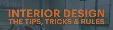 interior design tips and tricks great interior design tips tricks and rules infographic