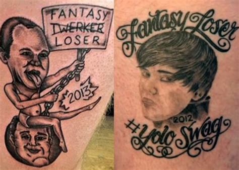 fantasy football loser tattoo 24 of the worst nfl tattoos team jimmy joe