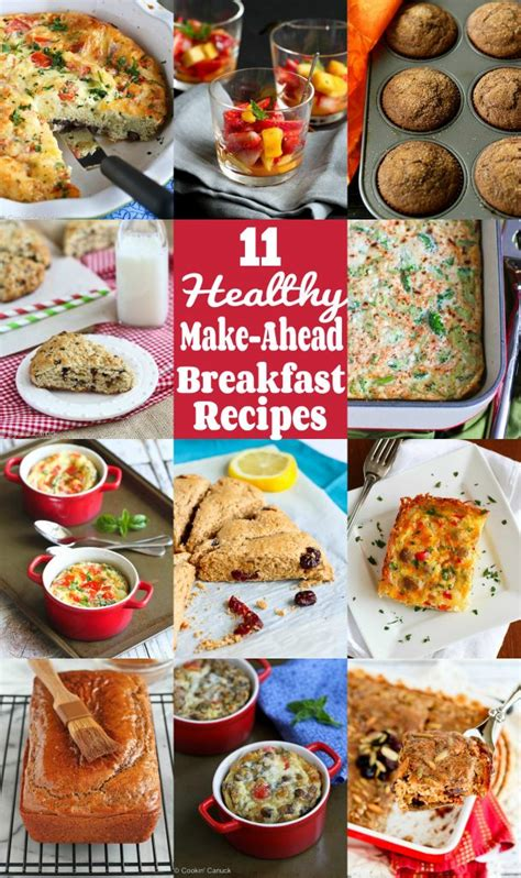 make ahead food gift 11 healthy make ahead breakfast recipes cookin canuck