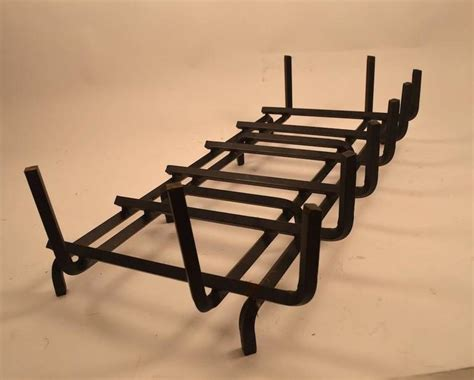 large fireplace grate large iron fireplace grate insert at 1stdibs