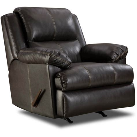 walmart recliner simmons bonded leather rocker recliner furniture