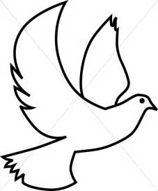 Holy Spirit Dove Outline by Dove Clipart Dove Graphic Dove Image Sharefaith