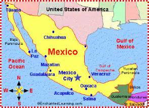 map of mexico and south america with capitals mexico map zoomschool