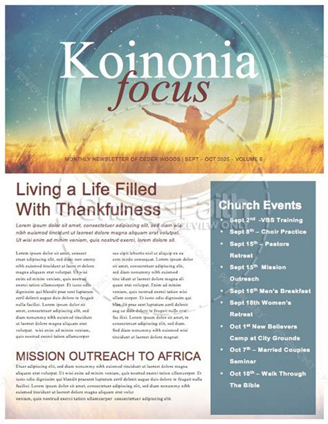 15 Free Church Newsletter Templates Ms Word Publisher Designyep Christian Newsletter Templates