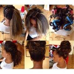 versatile sew in for white people protective styling high bun with kanekalon weave fake it
