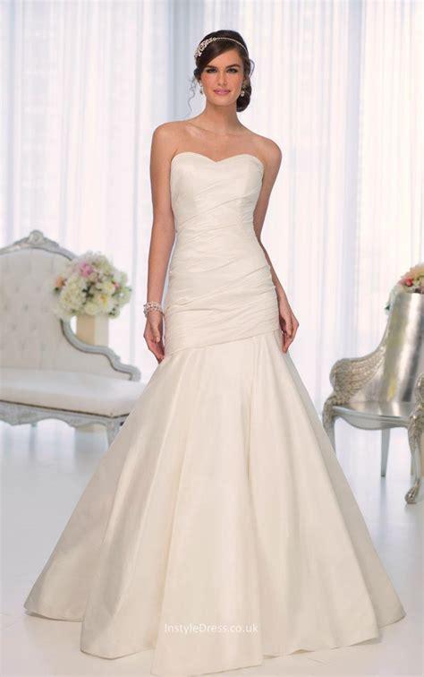 Ivory Wedding Dresses Uk by Ivory Satin Strapless Sweetheart Simple Mermaid Wedding