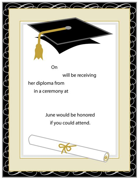 template for name cards for graduation announcements 40 free graduation invitation templates template lab