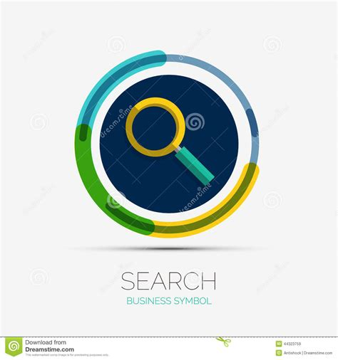 Search Companies Search Icon Company Logo Minimal Design Stock Vector Image 44323759