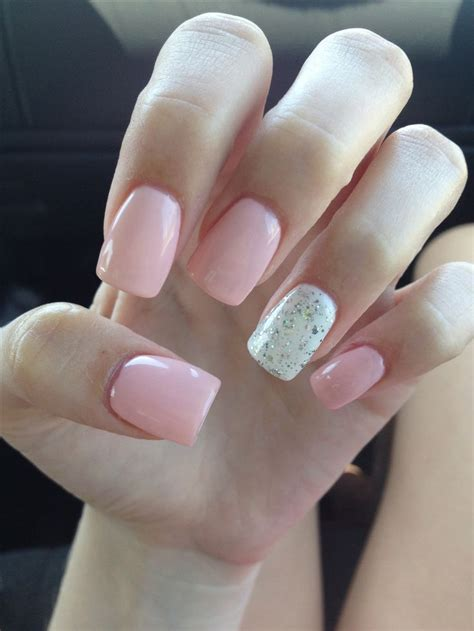 Light Pink Acrylic Nails by Light Pink Acrylic Nails Glitter White Tough As