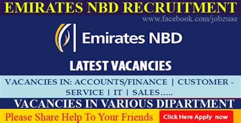 Emirates Nbd Careers | emirates nbd careers banking careers job listing