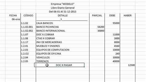 ejemplo libro diario contabilidad 23 hoja de c 193 lculo libro diario youtube