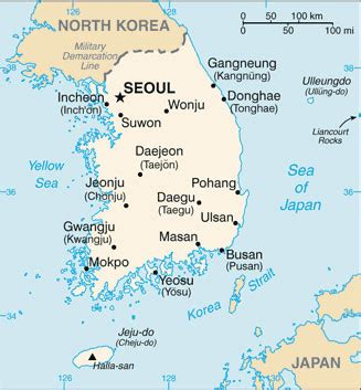 south korea city map south korea map with cities free pictures of country maps