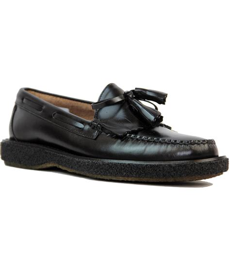crepe sole loafers bass weejuns layton crepe sole retro mod tassel fringe loafers