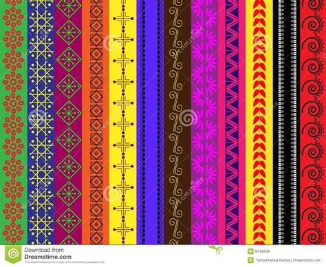 designs to color different colour henna borders stock vector image 8146518