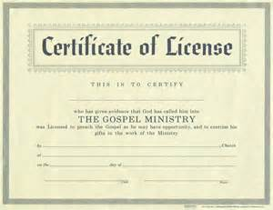 license certificate template license for minister certificate license christian