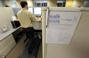 Daily Mail News Desk Contact by Americans Beat The Bulge By Walking Their Way Through Work