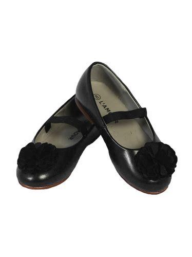 L Dress Shoes by L Amour Black Dress Shoes W Flower Pom