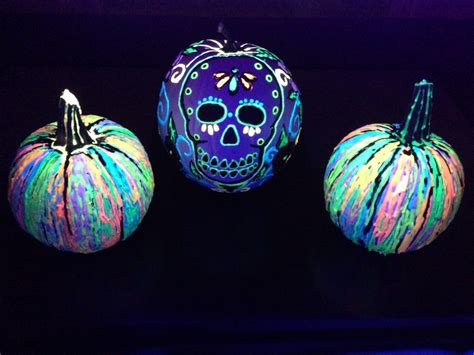 glow in the paint on pumpkins pumpkin decorating ideas simplemost