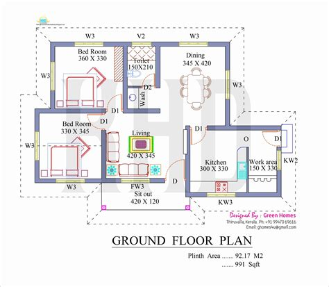 residential house floor plan