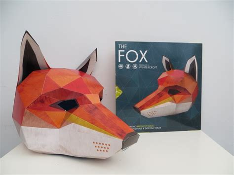 Origami Fox Mask - press out masks by wintercroft et speaks from home