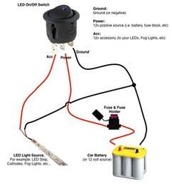 on switch led rocker switch wiring diagrams