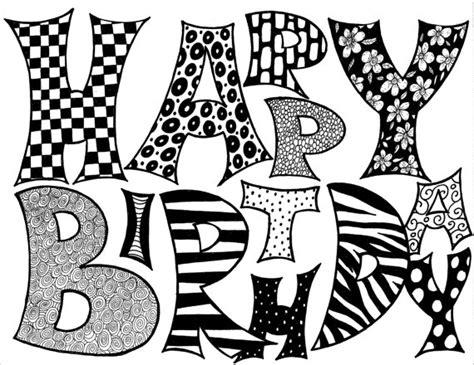 imagenes feliz cumpleaños blanco y negro tarjetas de cumplea 241 os para imprimir a blanco y negro imagui