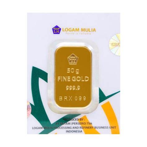 jual pentacles logam mulia antam 50 gram press sertifikat harga kualitas terjamin
