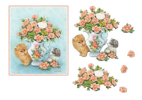 Decoupage 3d - 3d bogen blumen on card picasa and