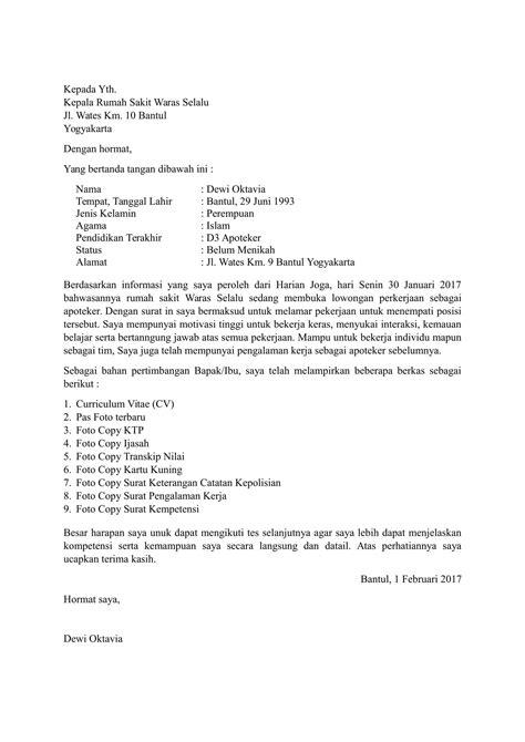 Download Contoh Surat Lamaran Kerja di Rumah Sakit Terbaru