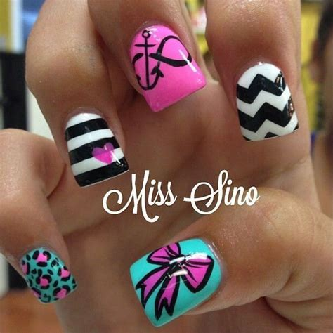 summer acrylic nail designs with anchor 18 best images about anchor nail designs on pinterest