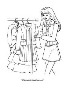 coloring pages of barbie clothes awesome barbie coloring pages page 1 top markotop