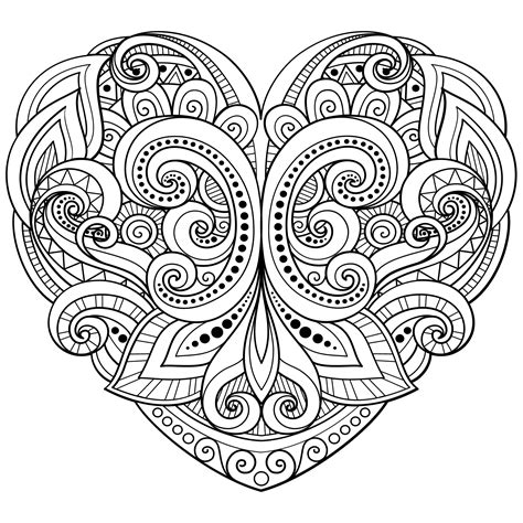 love mandala coloring pages love heart coloring page hearts love coloring pages