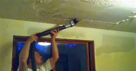 man   remove  popcorn ceilings