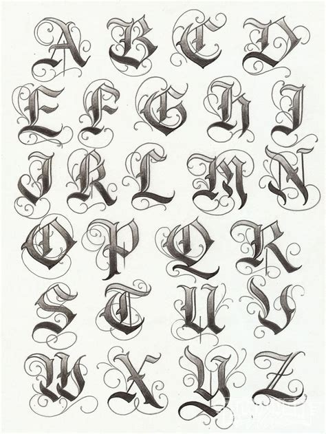 fancy tattoo lettering alphabet fancy tattoo lettering
